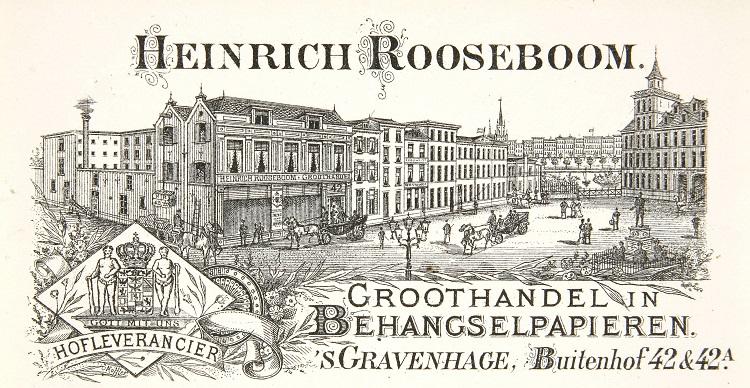 Briefhoofd papierdrukkerij Heinrich Rooseboom 1895