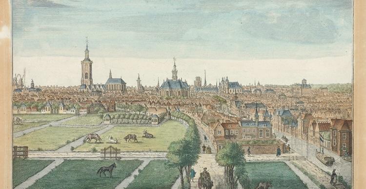Gezicht op Den Haag vanuit het zuid-westen 1762 H. Scheurleer
