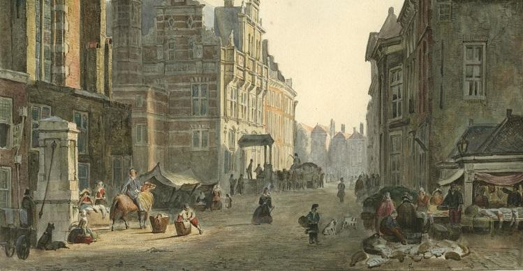 Dagelijkse Groenmarkt 1837 maker C.J. Behr