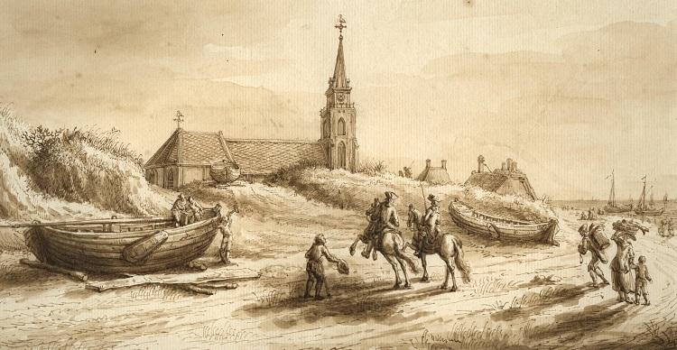 Strand Scheveningen 1756 P.C. la Fargue
