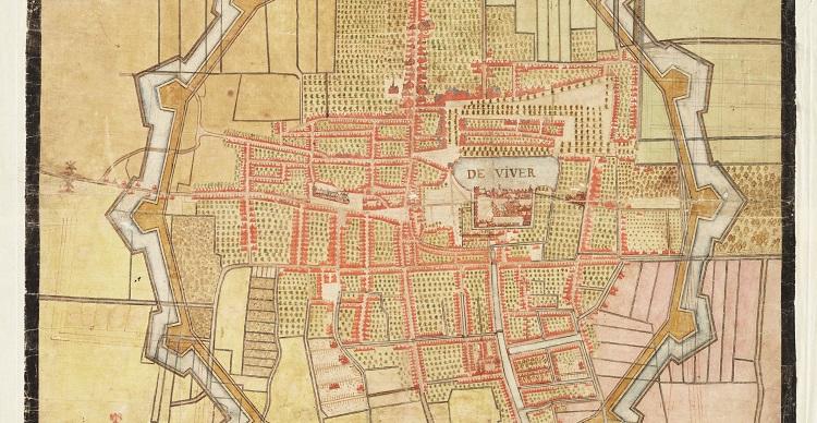Vestingkaart 's-Gravenhage 1615