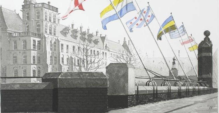 Parlementsgebouwen gezien vanaf de Plaats 2000 Wim Bettenhausen