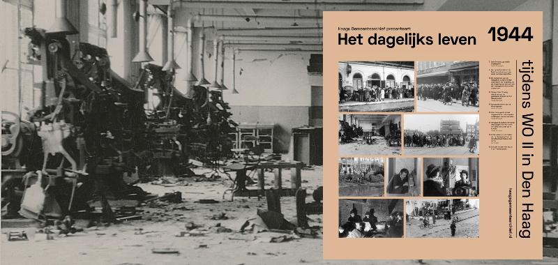 1944, schade na opblazen persen Haagsche Courant in de nacht van 29 op 30 september 1944