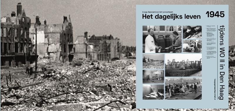 1945, Juliana van Stolberglaan na het bombardement op het Bezuidenhout | Fotograaf: Emo Jurjen Rentema