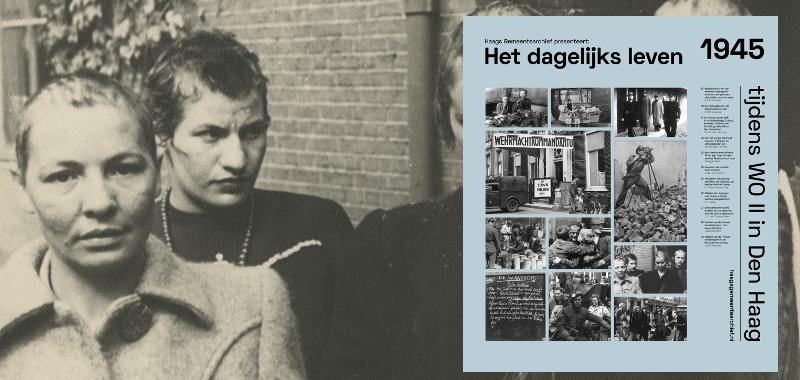 1945, Schilderswijk: meisjes, die omgingen met Duitse soldaten werden in mei 1945 kaalgeschoren | Fotograaf: H.C. Mojet