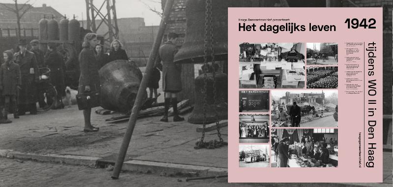 Schenkkade hoek Koningin Sophiestraat; klokkenroof uit de R.K. St. Liduinakerk | Dienst Stadsontwikkeling en Volkshuisvesting