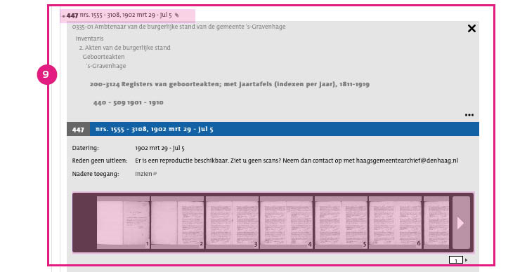 9/11. Klik op de scans om de akten te openen. De akten zijn geordend op aktenummer en op datum. Zoek in de scans naar de relevante akte door te zoeken op aktedatum (of indien bekend op aktenummer).